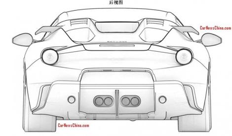 Патентные изображения особой версии F12berlinetta появились в Сети