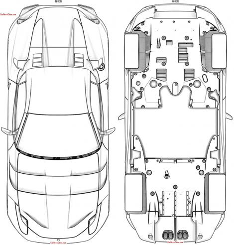 Патентные изображения особой версии F12berlinetta появились в Сети. Фото 1
