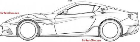 Патентные изображения особой версии F12berlinetta появились в Сети. Фото 2