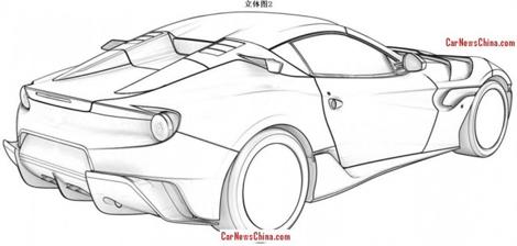 Патентные изображения особой версии F12berlinetta появились в Сети. Фото 3