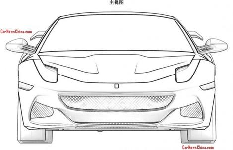 Патентные изображения особой версии F12berlinetta появились в Сети. Фото 4