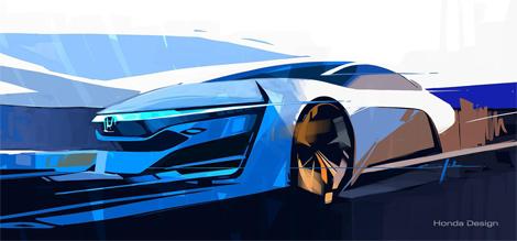 Прототип Honda FCEV дебютирует на автосалоне в Лос-Анджелесе