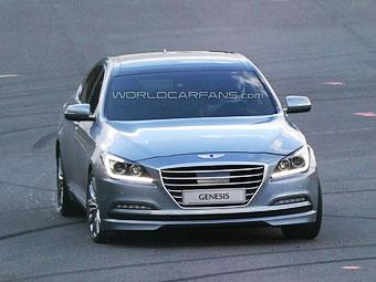 Фотошпионы рассекретили новый седан Hyundai Genesis
