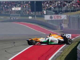 Сутил и Мальдонадо обвинили друг друга в столкновении на Гран-при США