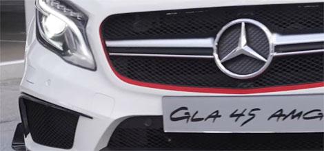 Компания Mercedes-Benz опубликовала видеотизер GLA 45 AMG