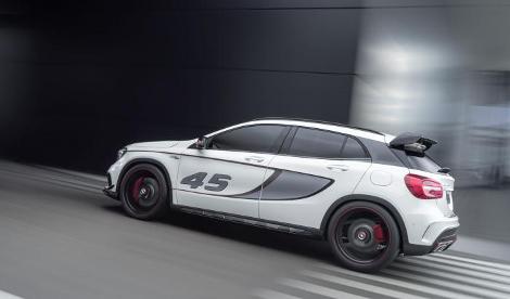 В Лос-Анджелесе дебютировал концептуальный Mercedes-Benz GLA 45 AMG. Фото 2