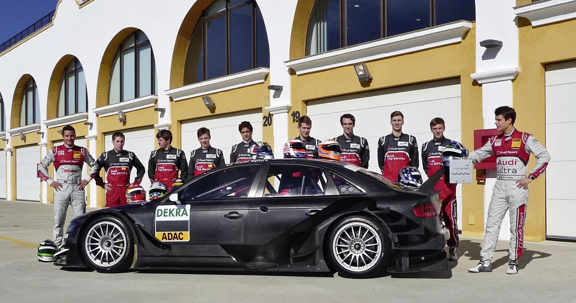 Робин Фряйнс опробовал гоночную Audi A5 в рамках испытаний молодых пилотов