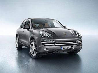 """Компания Porsche представила """"платиновый"""" Cayenne"""