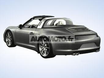 """В Сети появились изображения Porsche 911 с кузовом """"тарга"""""""