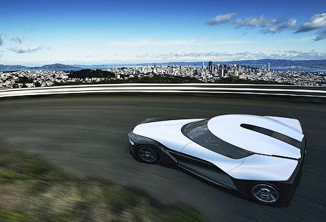 Трехместный электромобиль BladeGlider появится в серии через три года. Фото 1