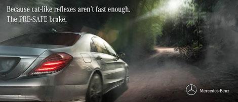 Компания Mercedes-Benz приняла участие в «войне реклам» с Jaguar