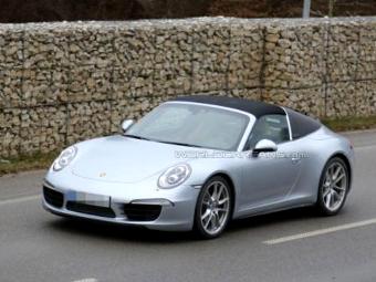 """Porsche 911 с кузовом """"тарга"""" сфотографировали без камуфляжа"""