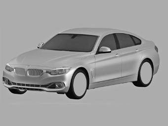 """Компания BMW запатентовала дизайн четырехдверной """"четверки"""""""