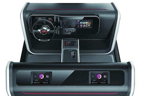 Kia представила свои разработки в области развлекательных систем для машин