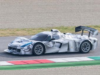 Шпионы сфотографировали гоночный Ferrari для Ле-Мана