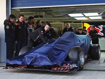 Новый болид Red Bull представят за 20 минут до начала тестов