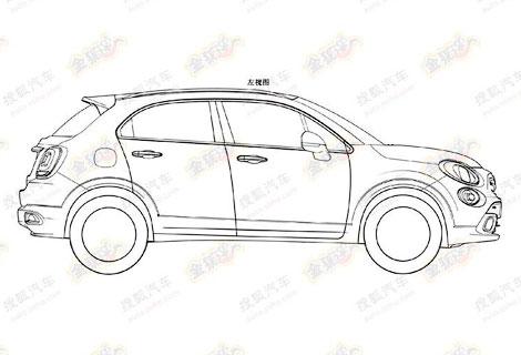 В Сети появились патентные изображения вседорожника Fiat 500X