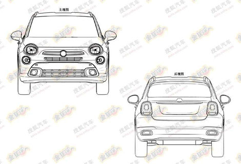 В Сети появились патентные изображения вседорожника Fiat 500X. Фото 1