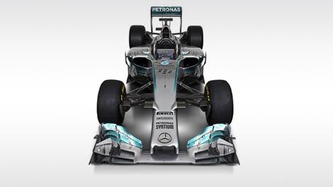 Льюис Хэмилтон и Нико Росберг показали болид F1 W05 для сезона-2014