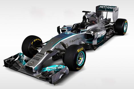 Льюис Хэмилтон и Нико Росберг показали болид F1 W05 для сезона-2014. Фото 2