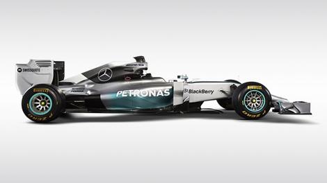 Льюис Хэмилтон и Нико Росберг показали болид F1 W05 для сезона-2014. Фото 4