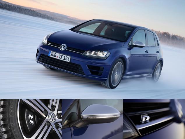 Как новый Volkswagen Golf R едет по льду. Фото 1