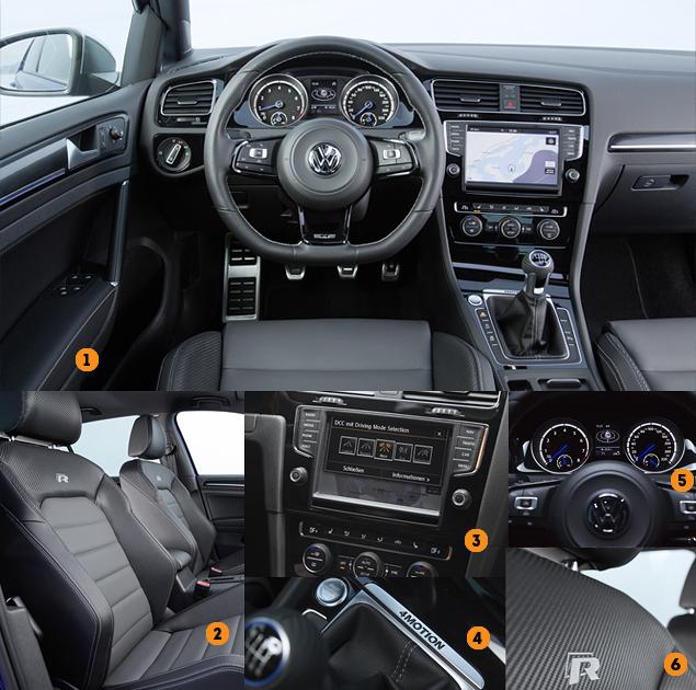 Как новый Volkswagen Golf R едет по льду. Фото 2