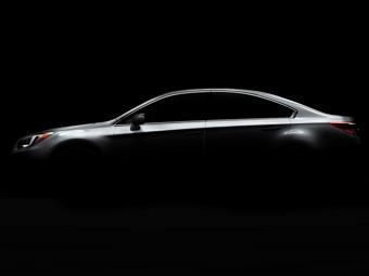 Компания Subaru показала фрагмент седана Legacy нового поколения