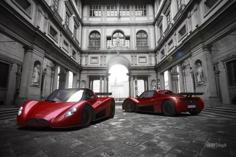 Итальянская компания привезет в Женеву сверхлегкий концептуальный родстер. Фото 2