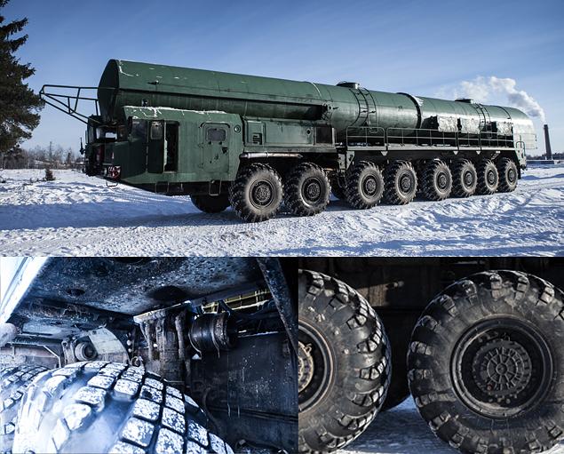 Тест-драйв тягача для перевозки межконтинентальной баллистической ракеты РС-24. Фото 3