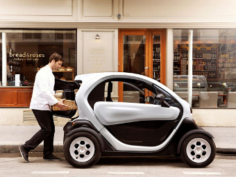 Компания Renault представила грузовой электрокар Twizy