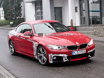 Шпионы сфотографировали кабриолет BMW 4-Series
