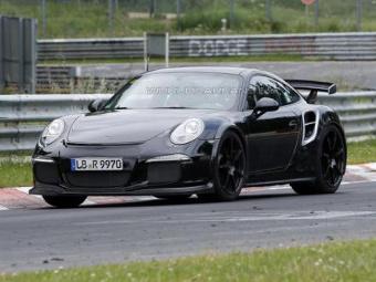 Трековый вариант Porsche 911 Turbo S сфотографировали без камуфляжа