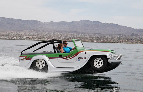 При движении по воде машина может развить 70,5 километра в час. Фото 1