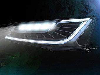 """Audi оснастит новый седан A8 """"матричными"""" фарами"""