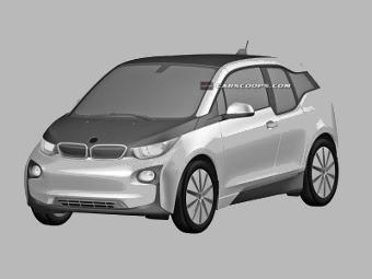 Компания BMW запатентовала дизайн серийного электрокара