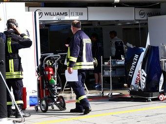 В гараже команды Williams произошло возгорание