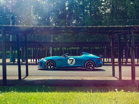 Концептуальный трековый родстер Jaguar Project 7 оснастили 550-сильным мотором. Фото 1