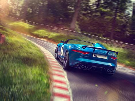 Концептуальный трековый родстер Jaguar Project 7 оснастили 550-сильным мотором. Фото 2