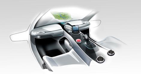 Машину оснастили проекционным дисплеем и солнечными батареями