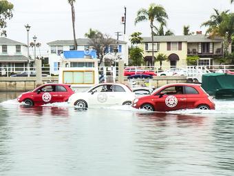 Fiat превратил три хэтчбека 500 в лодки