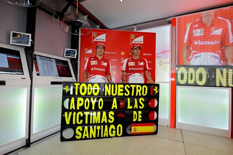 Вместе с Lotus свои соболезнования выразили в Ferrari