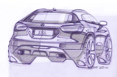 В интернете появились рисунки серийного вседорожника Mercedes-Benz GLA
