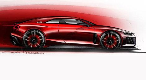 Концептуальное купе Audi оснастят силовой установкой с 4,0-литровым твин-турбо V8