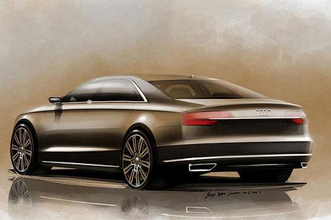 Опубликованы рисунки рестайлинговой версии флагманской модели Audi