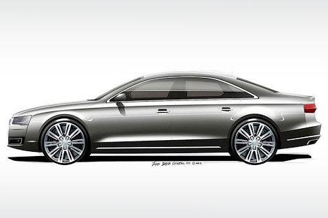 Опубликованы рисунки рестайлинговой версии флагманской модели Audi. Фото 2