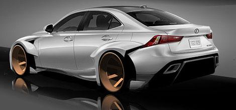 Тюнинг-вариант Lexus IS подготовят к выставке SEMA в Лас-Вегасе