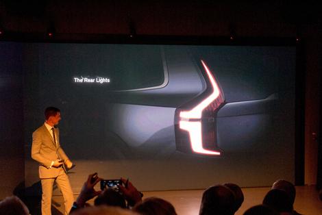 Первые изображения следующего XC90 представили на презентации Concept Coupe