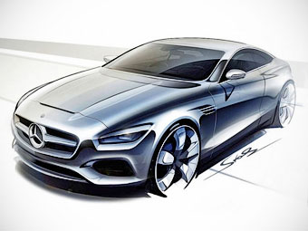 В Сеть выложили изображения двухдверного Mercedes-Benz S-Class