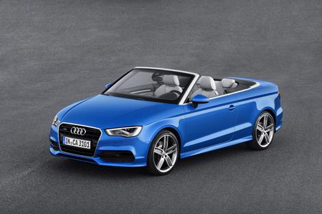 Крыша кабриолета Audi A3 может быть сложена за 18 секунд